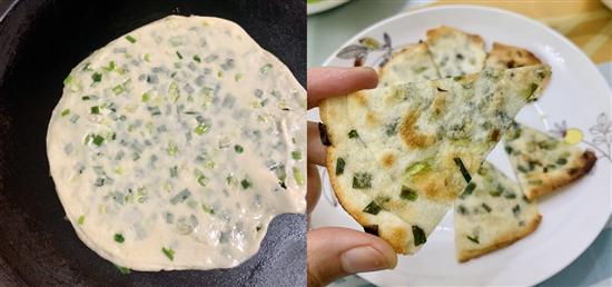 【丫头's life】用饺子皮5分钟搞定好吃的葱油饼