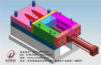 常州学模具好模具设计v模具分模拔模拆电极轧子机设计图图片