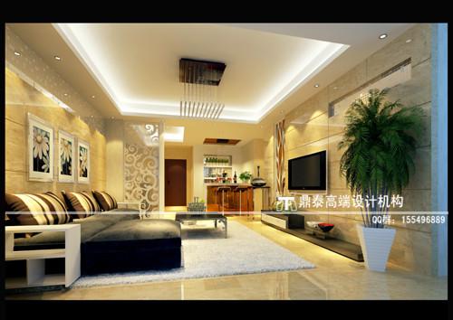 140平米简约风欧式三居室装修图片