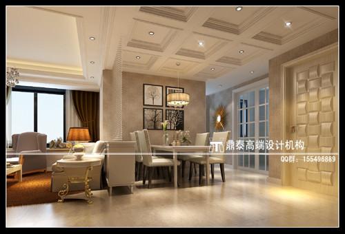 简约欧式风格三室装修图片