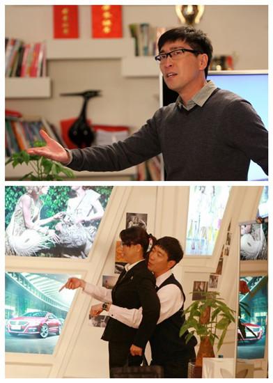 《新编辑部的故事》热播 演员王千源上演双簧戏图片