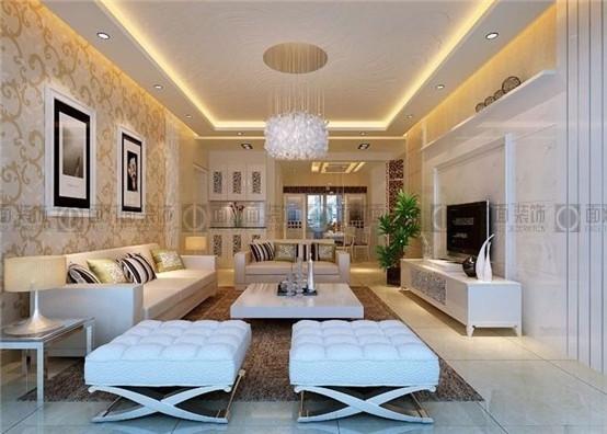 欧式客厅过廊灯带