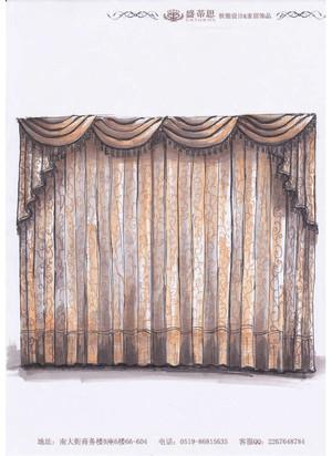 客厅窗帘: 欧式客厅要搭配一下眉帘,我比较喜欢简单一点的眉帘款式