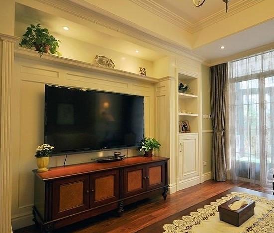 现在还有木有不做电视背景墙做整墙电视柜的