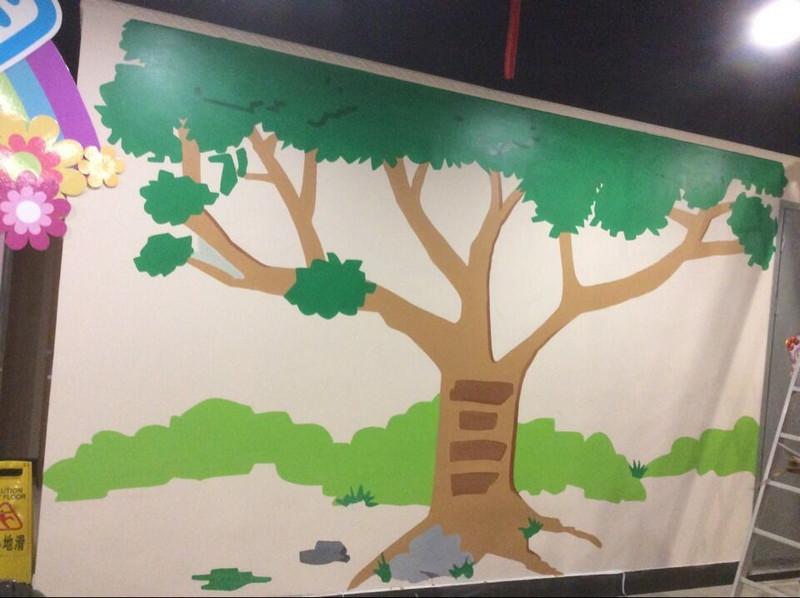 今天在天宁寺高诚商业街三楼摩尔庄园画的一颗大大树图片