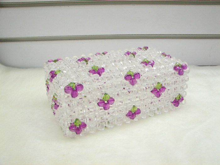 手工串珠纸巾盒|网购集市-化龙巷