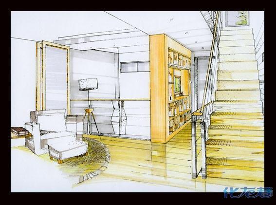 联排别墅设计,附手绘效果图和实景照片