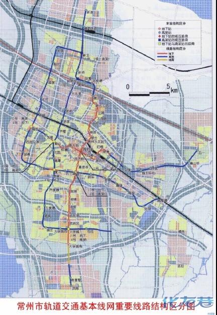 常州最新地铁规划图