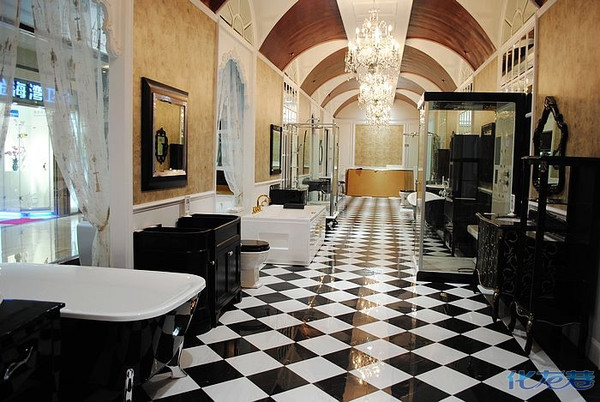 彩绘地板,卫浴