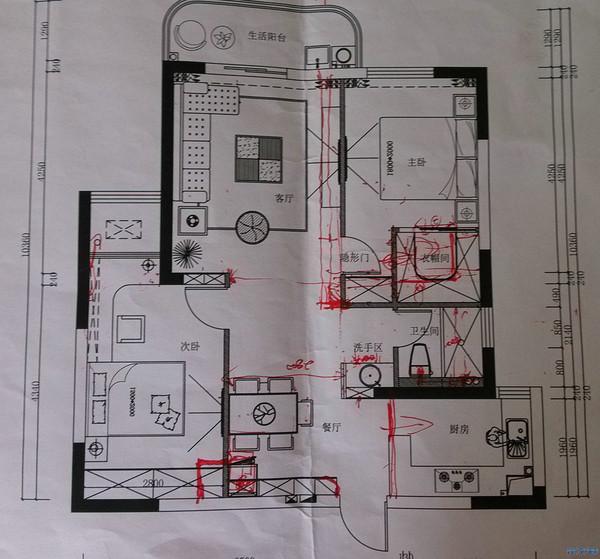 套房卫生间平面设计图展示图片