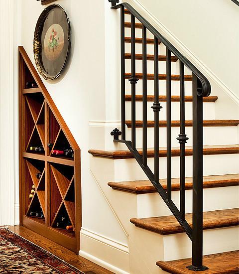 欧式楼梯酒柜图片
