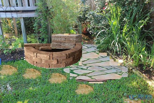 一个小鱼池(水景)的修建:其实从用的砖