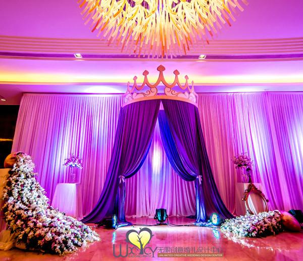 粉紫色婚礼现场布置_婚礼现场布置