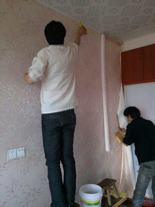 环保无缝墙布装修样板房