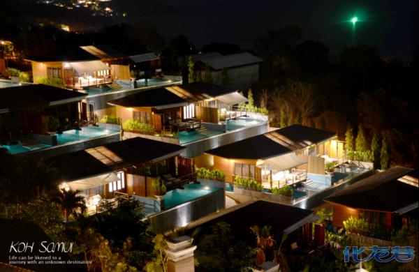 慢慢回酒店,在苏梅岛的行程就以一张酒店夜景结束