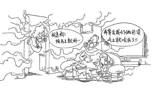 雾霾环保手绘画