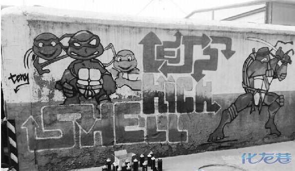 3d动物墙绘,字母涂鸦……陈雨恬几乎把所有的