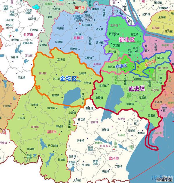 常州市区域地图