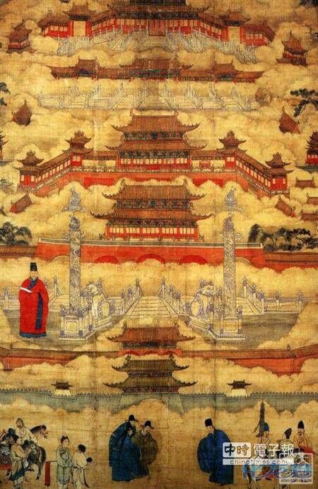 紫禁城--北京故宫是明清两个朝代24位皇帝的皇宫,占地面积72万平方图片
