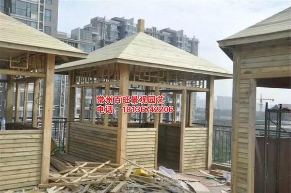 常州别墅景观木结构凉亭图片欣赏!