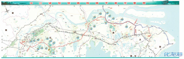 沿江城际铁路具体路线图?网上图片都很模糊