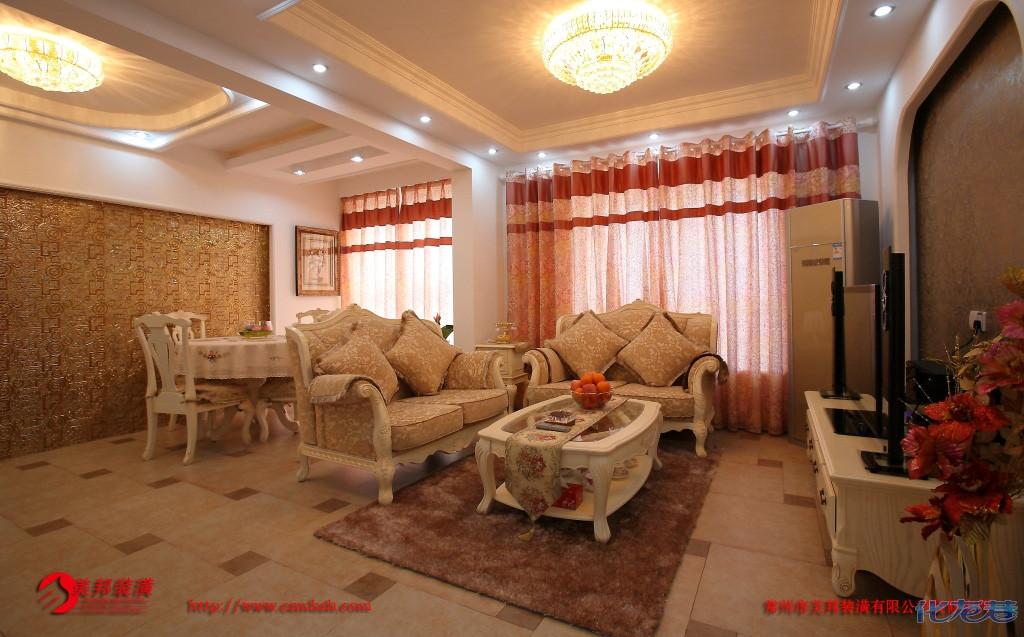 93平米简欧风格二室装修图片