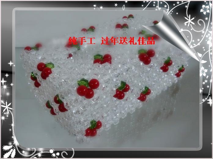 串珠 纸巾盒